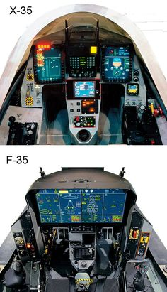 Comparoson | X-35 to F-35 Glass Cockpit Display