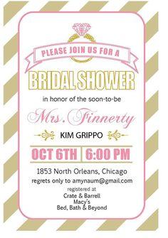 Printable Bridal Shower Invitation   Keywords: #bridalshowers #jevelweddingplanning Follow Us: www.jevelweddingplanning.com  www.facebook.com/jevelweddingplanning/