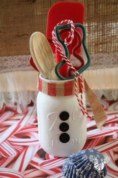 Weckgläser DIY für Weihnachtsgeschenkideen-Kochbesteck verschenken
