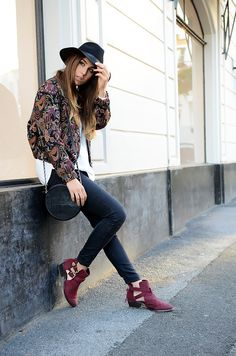 & magazine silk & salt blogpost des tages bangbangblond burgrunder boots hat alison