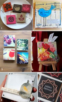 Lemon Jitters: Roundup: Mini Canvas Art - I like the two with the birds.