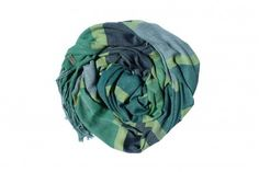Handmade scarf from Guatemala. This green and teal scarf is perfect with denim. $85 on Ethical Ocean.