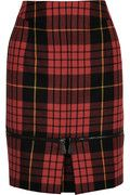 Fabulous McQueen pencil skirt. Tartan is the way to go combine with a cool black leather jacket and ankle boots