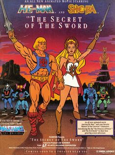 He-Man and She-Ra in The Secret of the Sword