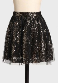 Holiday sparkle--cute dressed up for a party or down with a chunky knit and tights
