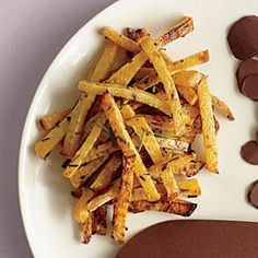 Roasted Rosemary Rutabaga Fries | MyRecipes.com Salty and delicious, these make a great alternative to traditional fries.