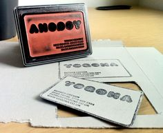 Custom rubber stamp business cards