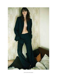 Melissa Stasiuk In Menswear-Inspired Style for Russh December/January