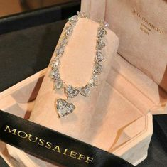 Set hearts a flutter. A heart-shape diamond necklace, total weight carats. Cute Jewelry, Body Jewelry, Jewelry Accessories, Fashion Jewelry, Women Jewelry, Diamond Are A Girls Best Friend, Luxury Jewelry, Diamond Jewelry, Girly