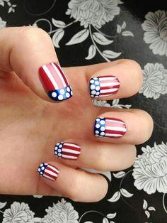 USA nails  | www.partyista.com