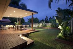 A large entertaining area, as well as a place to relax and unwind adds an e Outdoor Areas, Outdoor Rooms, Outdoor Living, Outdoor Structures, Outdoor Decor, Outdoor Decking, Backyard Patio, Backyard Landscaping, Large Backyard