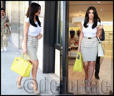 Kim Kardashian shopping at La Perla with Hermes    Kim Kardashian was spotted out shopping for new lingerie at La Perla in Hollywood, California on Monday (June 20). She carried her 35 CM Candy Colour Birkin in Lime with Palladium Hardware    UK's exclusive luxury authentic handbag SPA   Vist us on Facebook: www.facebook.com/DelortaeAgency