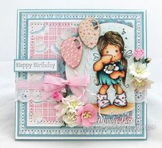 Happy Birthday card using Magnolia stamps from Magnolia-licious by Mindy Baxter of StampinMindy http://magnoliastamps.us/store2/brand-new-love-collection2013-1/ #crafts #cards