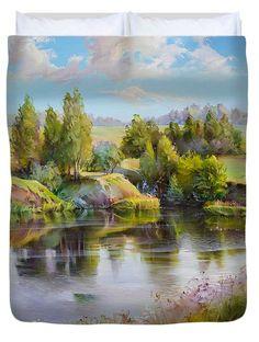 Summer Duvet Cover by Roman Romanov