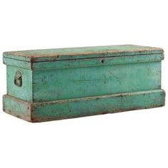 Grandpa's old trunk (like this but red) as nightstand.... maybe seating with cushion on top?