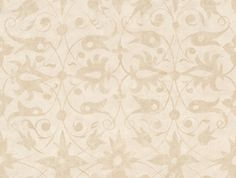 """Saffron Walden Tracery (310434) - Zoffany Wallpapers - This striking Elizabethan is an example of an """"antickework"""" gesso beige scrolling design on a white background. co-ordinating border available. Other colours are available. Please request a sample for true colour match."""