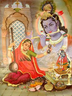 Divine love ~ Meera & Krishna  God is in you    God is in every word of yours,    Every deed and thought.    Speak, do and think as befits Him.  -Sai Baba