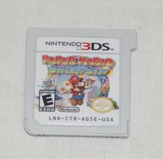 Paper Mario: Sticker Star 3DS [Nintendo 3DS, 2012] game cartridge tested works
