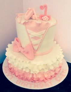 """Tiny Dancer"" Pink Ballet Cake"