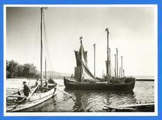 Nidden, Fischerboote im Hafen