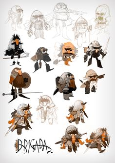 #BRIGADA #COMIC #ILLUSTRATION - Character Design. BRIGADA by ENRIQUE FERNÁNDEZ. BRIGADE is an Enrique Fernández´s comic book project. A series of fantasy/epic/medieval stories. 46 pages, hardcover, 19X27cm. ( three language versions: spanish, english, french) Release date late summer 2013.  PRE-ORDERS: http://brigadacomic.blogspot.com.es  verkami crowdfunding CAMPAIGN: www.verkami.com/projects/2598