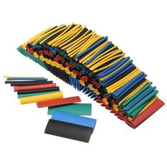 Heat Shrink Tube 2:1 900Pcs Electrical Wire Cable Wrap Heat Shrinking Sleeving 6 Colors Purple-fox