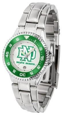 North Dakota Fighting Sioux Ladies Stainless Steel Watch by SunTime. $76.95. Women. Rotating Bezel. Stainless Steel. Officially Licensed North Dakota UND Fighting Sioux Ladies Stainless Steel Watch. Links Make Watch Adjustable. North Dakota Fighting Sioux Ladies Stainless Steel Watch. This North Dakota metal wrist watch works for dress or casual apparel. Functional rotating bezel is color-coordinated to compliment your favorite Fighting Sioux team logo. The Competitor...