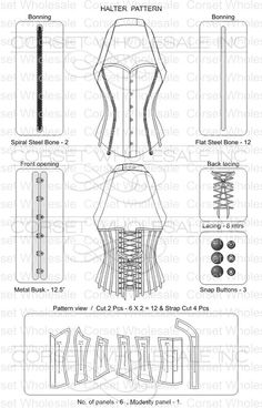 Pattern-5 : Halter overbust pattern