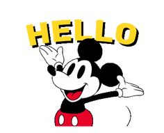 Mickey Mouse 90th Anniversary | Line Sticker Mickey Mouse Videos, Mickey Mouse Images, Mickey Mouse Cartoon, Mickey Mouse And Friends, Cute Kids Photos, Retro Disney, Mikey Mouse, Mickey Mouse Wallpaper, Good Night Gif