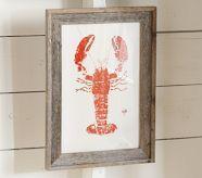 nautical art - lobster print