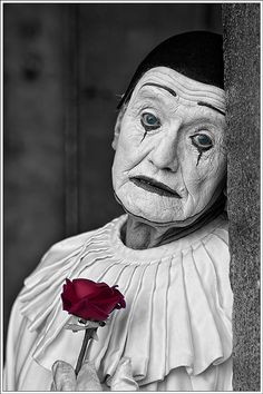"I never liked the clowns! But this melancholic, old clown makes me feel sad somehow! *""but really I'm sad, oh, sadder than sad"" #halloween #scary #mask"