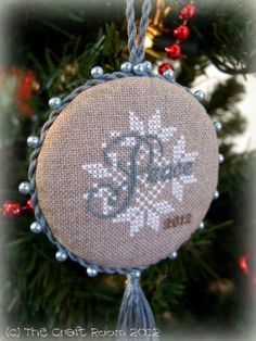 The Craft Room - A Jeanette Douglas Design from the 2012 JCS Christmas Ornament Book