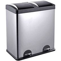 Walmart Trash Cans Outdoor Captivating Rubbermaid Double Decker 2In1 Recycling Modular Bin With Linerlock