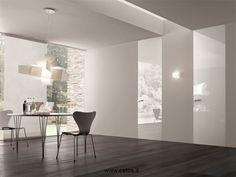 Porte interne a filo muro finitura bianco lucido
