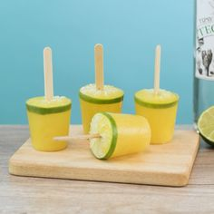 It's a frozen margarita on a stick. Perfect for your next tequila party. Mojito, Margarita Tequila, Whisky, Gin, Vodka, Alcoholic Drinks, Cocktails, Tipsy Bartender, Recipe Notes
