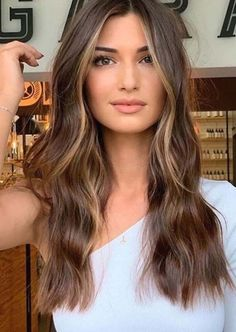 Brown Hair With Highlights, Face Frame Highlights, Face Framing Hair, Hair Color Shades, Hair Colors, Hair Color Balayage, Dark Balayage, Dark Blonde Hair Color, Short Hairstyles