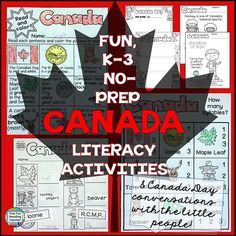 Read More About Fun, NoPrep Canada Literacy Activities – and Canada Day conversations with the little people Kindergarten Activities, Learning Activities, Canada For Kids, Canada 150, Canada Day Fireworks, September Activities, End Of School Year, Thinking Day, Teacher Blogs