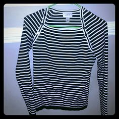 Ann Taylor Loft sweater size small Beautiful black and white stripe sweater size small. Excellent condition only worn twice Ann Taylor Loft  Sweaters Crew & Scoop Necks