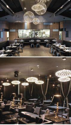 После того, как творческой личности современной люстры звезды Кафе Ресторан Бар Проект отеля сферическими светодиодные лампы -tmall.com Lynx