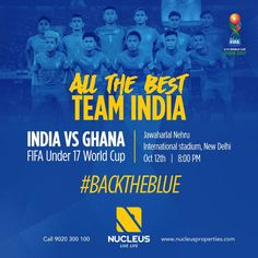 Wishing the Indian Football team all the best for their FIFA Under 17 World Cup final group stage match vs Ghana.  #BackTheBlue #INDvsGHANA #FIFAU17WC #FootballTakesOver #BlueColts #U17WorldCup #FIFA #AIFF #WeBackTheBlue  #Kerala #Kochi #India #LuxuryHomes #Architecture #Home  #Elegance #Elegant  #Beautiful #Exquisite #Interior #Design  #Luxury #Life #Trivandrum #Gorgeous #LifeStyle #RealEstate #View #Atmosphere #Apartment