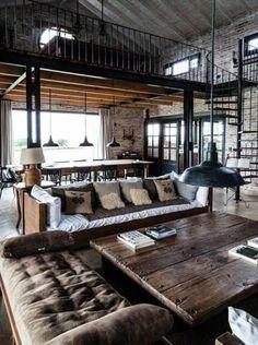 50 id es d co pour le salon salons d co et industriel - Table style industriel pas cher ...
