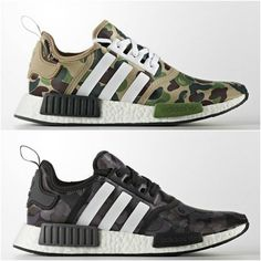 - shoes for men - chaussures pour homme - sneakers - boots - BAPE x adidas NMD - We reveal the news in sneakers for spring summer 2017 Cheap Adidas Shoes, Adidas Shoes Women, Nike Shoes Outlet, Nike Women, Women's Shoes, Me Too Shoes, Shoe Boots, Bape Sneakers, Adidas Nmd R1