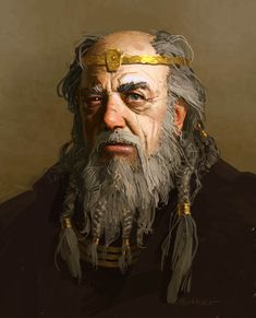 Hrothgar is the king ruling Denmark when Grendel begins to terrorize the mead hall. He was a good friend to Beowulf's father.