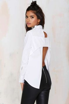 Nasty Gal Don't Back Out Cutout Top | Shop Clothes at Nasty Gal!