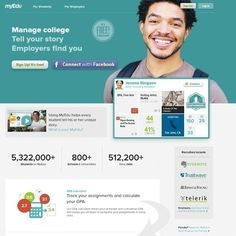 A college-level tool with both a student interface and a business interface.