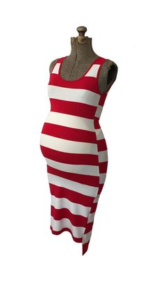 Red and White Stripe Willa Dress from Heritwine Maternity Maternity Fashion, Spring Maternity, Maternity Style, Red And White Stripes, Bodycon Dress, Style Inspiration, Bump, Nautical, Gender