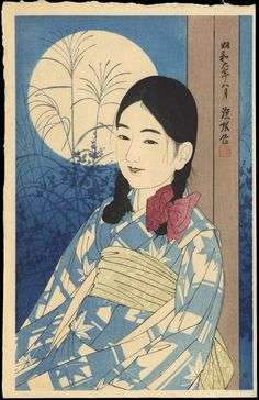 Japanese art Shinsui, Ito (1898-1972) - Autumn Full Moon