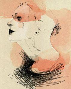 "227 Likes, 4 Comments - Ekaterina Koroleva (@kikivancheese) on Instagram: "" #illustration #face #watercolor #sketch #wip #peach #pastel #ekaterinakoroleva #berlin"""