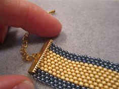 One Way to Finish a Flat Peyote-Stitch Band -  This may come from Beadwork but some of the advice is highly suspect.  Ribbon crimps are better for...uh.. ribbon & coating beads? Some critical thinking needed here. #Seed #Bead #Tutorial
