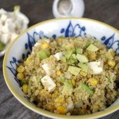 Quinoa Salad with Corn, Avocado